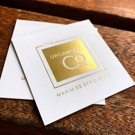Business Cards Gold Foil